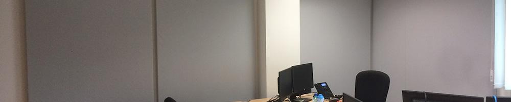 Ecrans stéréo- Panneaux muraux. Banque Marseille